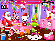 Игра Хелло Китти - Уборка у Санта Клауса