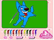 Игра Восхитительная собака. Раскраска