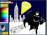 Игра Бэтман. Раскраска для мальчиков