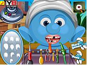 Игра Детские Смурфики -  идеальные зубы