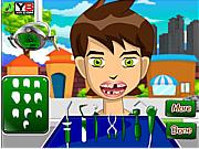 Игра Бен 10 у стоматолога лечит зубы