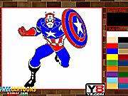 Игра Капитан Америка. Раскраска