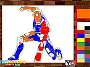 Игра Железный человек. Раскраска 3