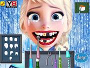 Игра Эльза лечит зубы у стоматолога