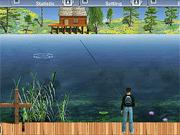 Игра Рыбалка на озере Зеленая Лагуна