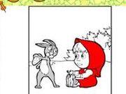 Игра Маша и Медведь - Раскраска