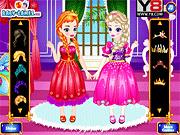 Игра Эльза и Анна наряжаются