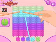 Игра Вязание шарфа Элли