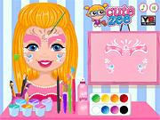 Игра Раскрась лицо девочки Шелли