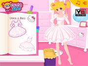 Игра Проектируйте свое платье Хелло Китти