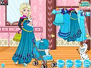 Игра Эльза идет за покупками, как мама