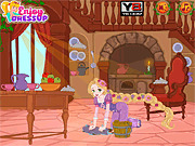 Игра Убираем дом вместе с Рапунцель