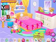 Игра Обстановка спальни для кролика Барби