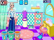 Игра День очистки ванной Эльзы