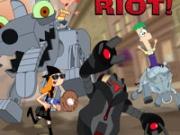 Игра Финес и Ферб против роботов