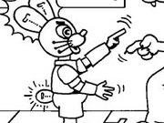 Игра Раскраска Ну погоди - робот