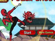 Игра Рейнджеры Самураи пинают монстров