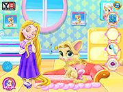 Игра День забавы ребенка Rapunzel Kitty
