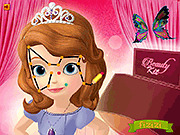 Игра Раскрась лицо Софии