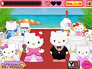 Игра Хелло Китти - поцелуи на свадьбе