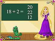 Игра Математический экзамен Rapunzel