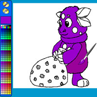 Лунтик играть онлайн раскраски