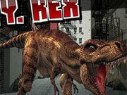 Игра Тираннозавр в Городе