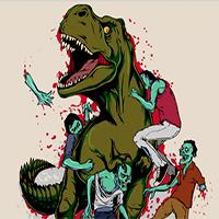 Игра Динозавры против зомби