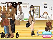 Игра Стильный наряд в коричневых цветах