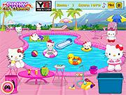 Игра Хелло Китти и грязный бассейн