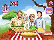 Игра Замороженная семья на пикнике