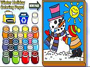 Игра Страницы расцветки праздника зимы