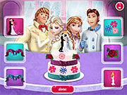Игра Семья Холодного сердца, готовящая Свадебный торт