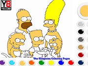 Игра Симпсоны раскраска