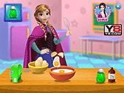 Игра Анна из Холодного сердца готовя Пирог