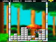 Игра Соник ставит блоки, как в тетрисе