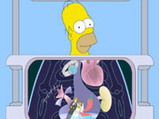 Игра Больница: Гомер на рентгене