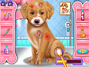 Игра Уход и макияж для щенка