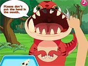 Игра Дантист для динозавра