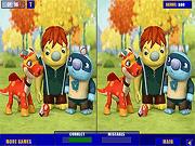 Игра Найти отличия на картинках из мультиков для детей