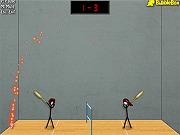 Игра Стикмены играют в Бадминтон 3