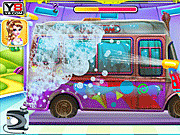 Игра Девчушки мороженое грузовик автомойка