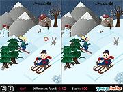 Игра Найди отличия: зимние сказки