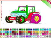 Игра Трактор раскраска