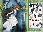 Игра Фея-ворона одевалка для девочек
