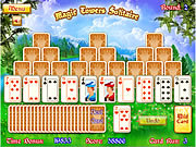 Игра Волшебные башни пасьянс