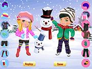 Игра Снежные одевалки