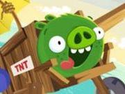 Игра Angry Birds Плохая и лютая свинья