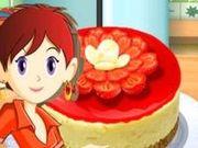 Игра Сара готовит ягодный чизкейк
