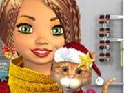 Игра Одевалки девочки в рождественском стиле